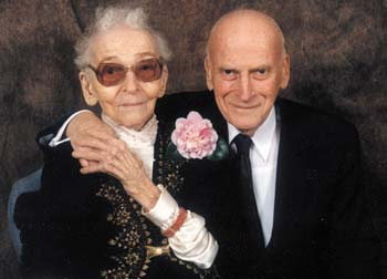 Century Club: Yehudi with his mom at her 100th birthday party in 1996. Photo by Kirsten Radasch
