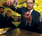 THE Pour SHALL INHERIT THE BAR  Beverage specialist Jeff Bareilles creates a Field Notes cocktail at Manresa.